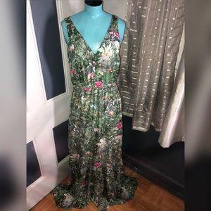 H&M Ruffle Maxi Dress